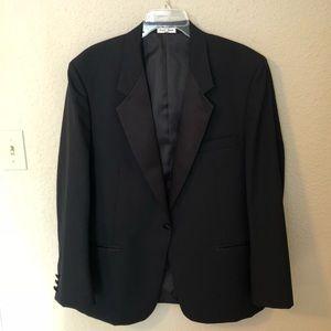 YSL Classy Black Tuxedo Jacket w/ Satin Peak Lapel